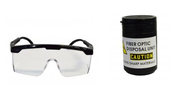 Protective Glasses and Fiber Optic Disposal Unit
